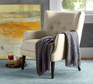 High Quality City Living · 30w X 31.5d $549 In Basic Oatmeal. Other Fabrics Available.  Manning Upholstered Armchair