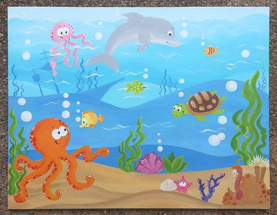 Under the Sea Underwater Painting on Canvas by ...