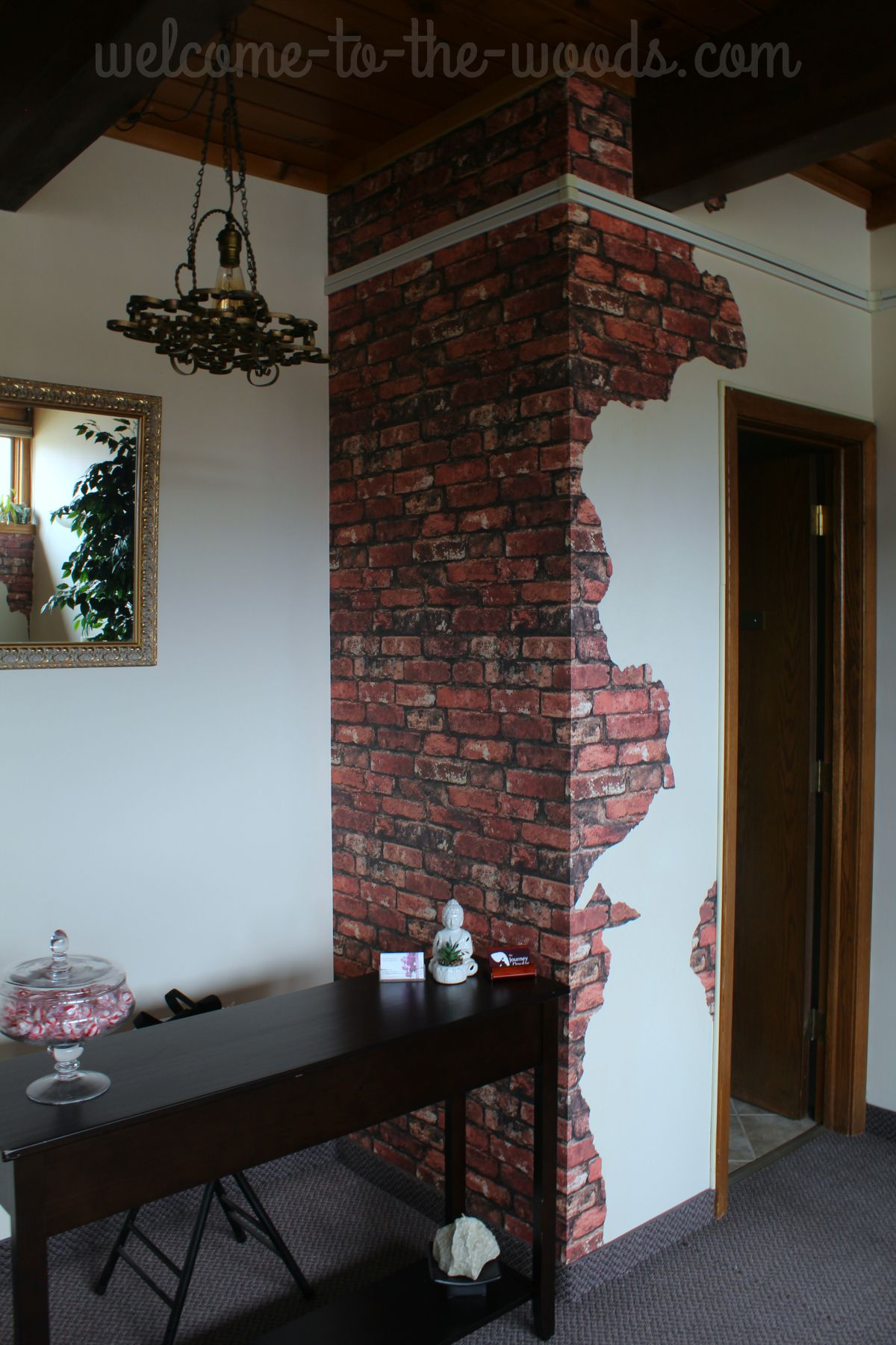Faux brick and plaster wall faux brick walls old