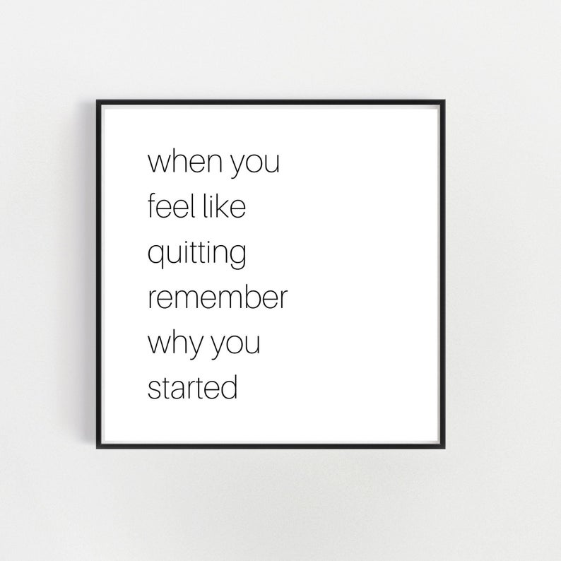 When you feel like quitting printable quote gym wall decor   Etsy