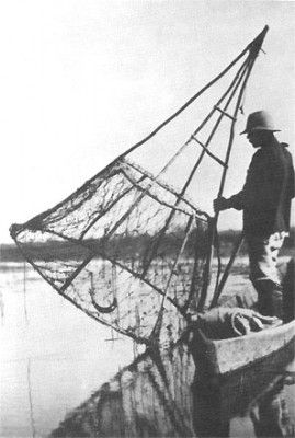 Fisherman on the Prypeć river.