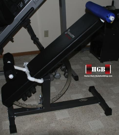 Homemade Hyperextension Bench. Using PVC Fittings, Convert