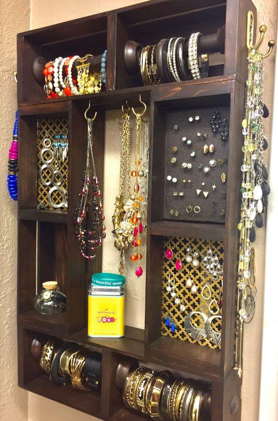 Jewelry organizer Wall jewelry organizer Large jewelry organizer