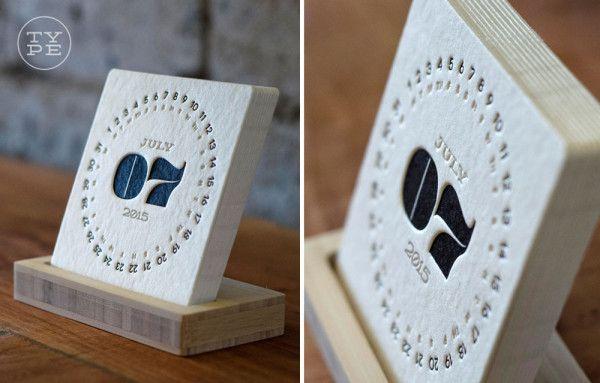 26 Modern Calendars For 2015 Modern Calendar Letterpress