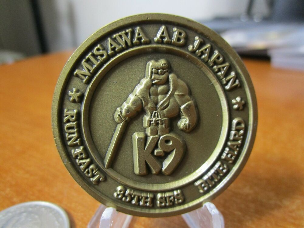 Usaf 35th Security Forces Squadron 35 Sfs K9 Misawa Ab Japan Challenge Coin 607g Challenge Coins Coins Coin Stand