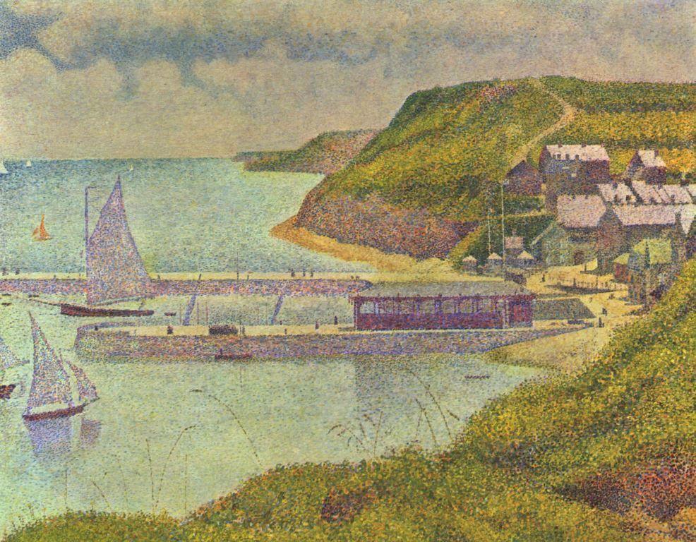Landschaftsmalerei impressionismus  Georges Seurat. Marine. 1888, Öl auf Leinwand, 66 × 81 cm. Paris ...