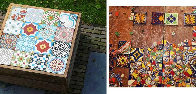Consejos para diseñar tu propia mesa mosaico   Mesa mosaico ...