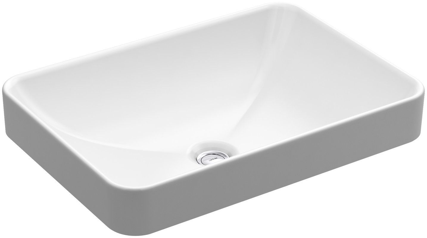 c886d08746e Vox Vitreous China Rectangular Vessel Bathroom Sink with Overflow ...