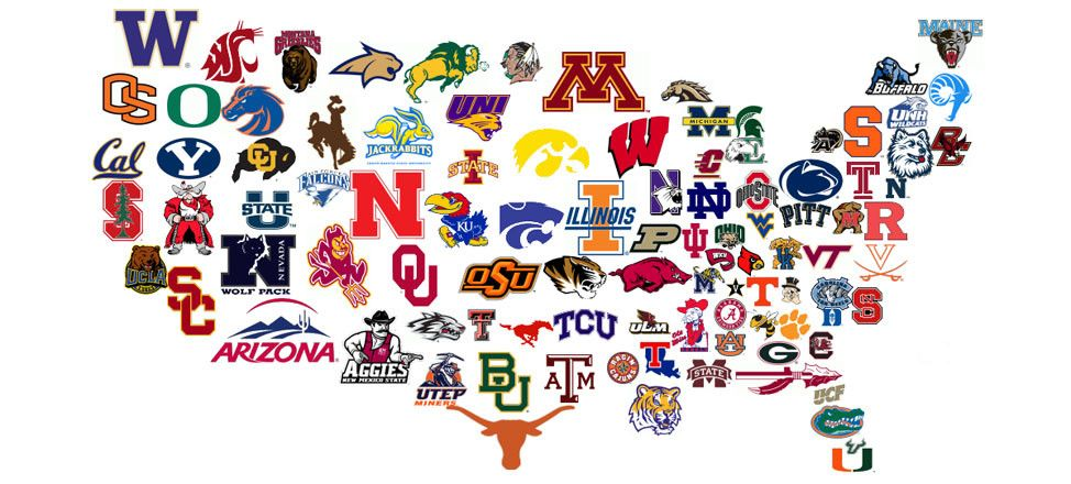 Game Day Collegiate Clothing, Hats, Belts & Accessories ... Colledge Logos Usa Map on
