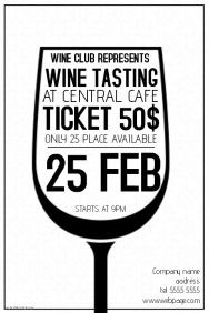 Poster Maker Tool PosterMyWall Poster Making Pinterest - Wine tasting event flyer template free
