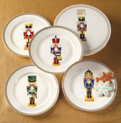 Nutcracker plates christmas decorating pinterest - Vaisselle de noel porcelaine ...