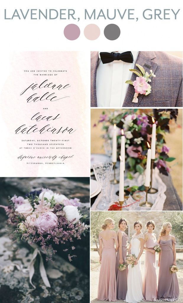 Lavender Mauve And Grey Wedding Inspiration Blush Paper Co