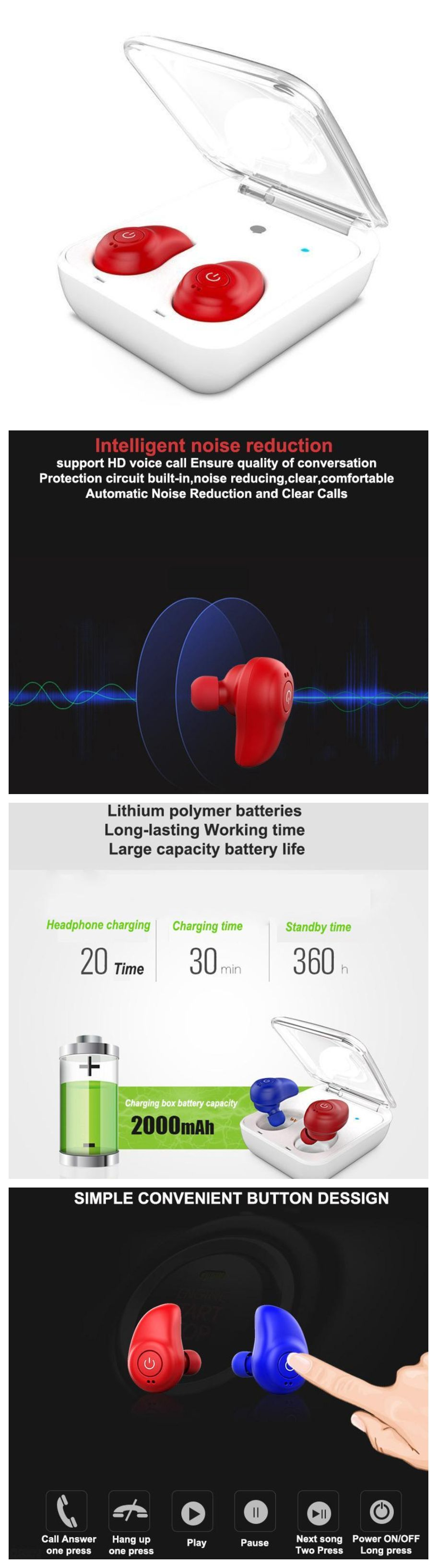 New Wireless Sports Bluetooth Earphones Headphones Headset Circuit Diagram Headphone Sport With Microphone And Charging Fits Into Workout