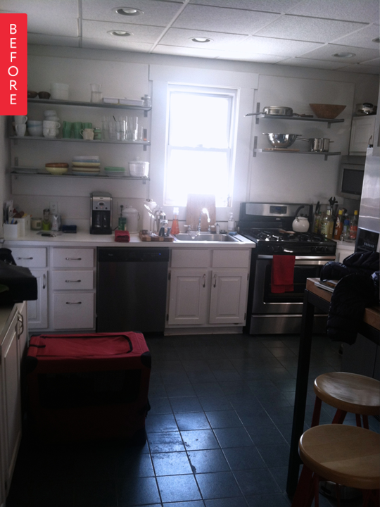 "Before & After: ""Single Wide"" Kitchen Opens Up 