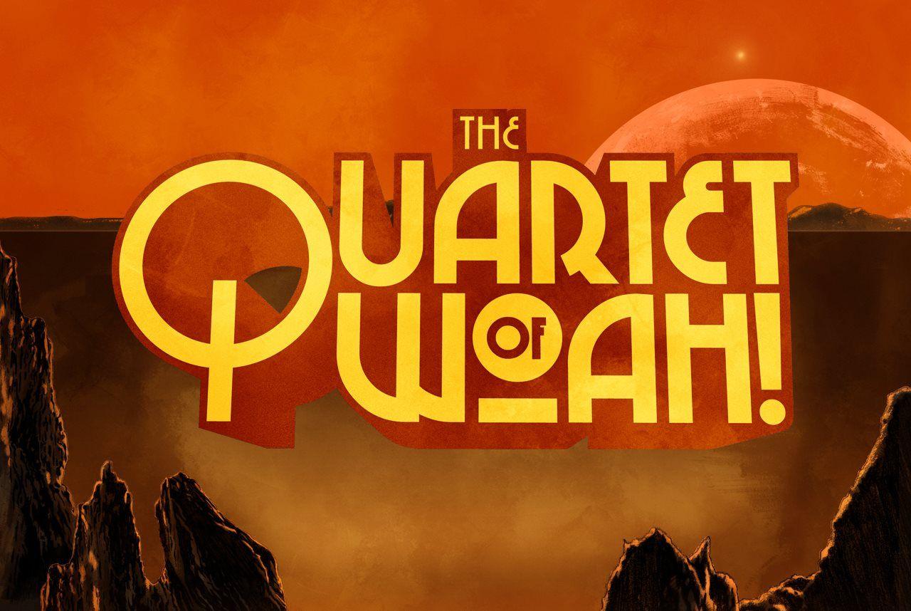 The Quartet of Woah! logotype by Pedro Semeano    https://www.facebook.com/graphicallegiance