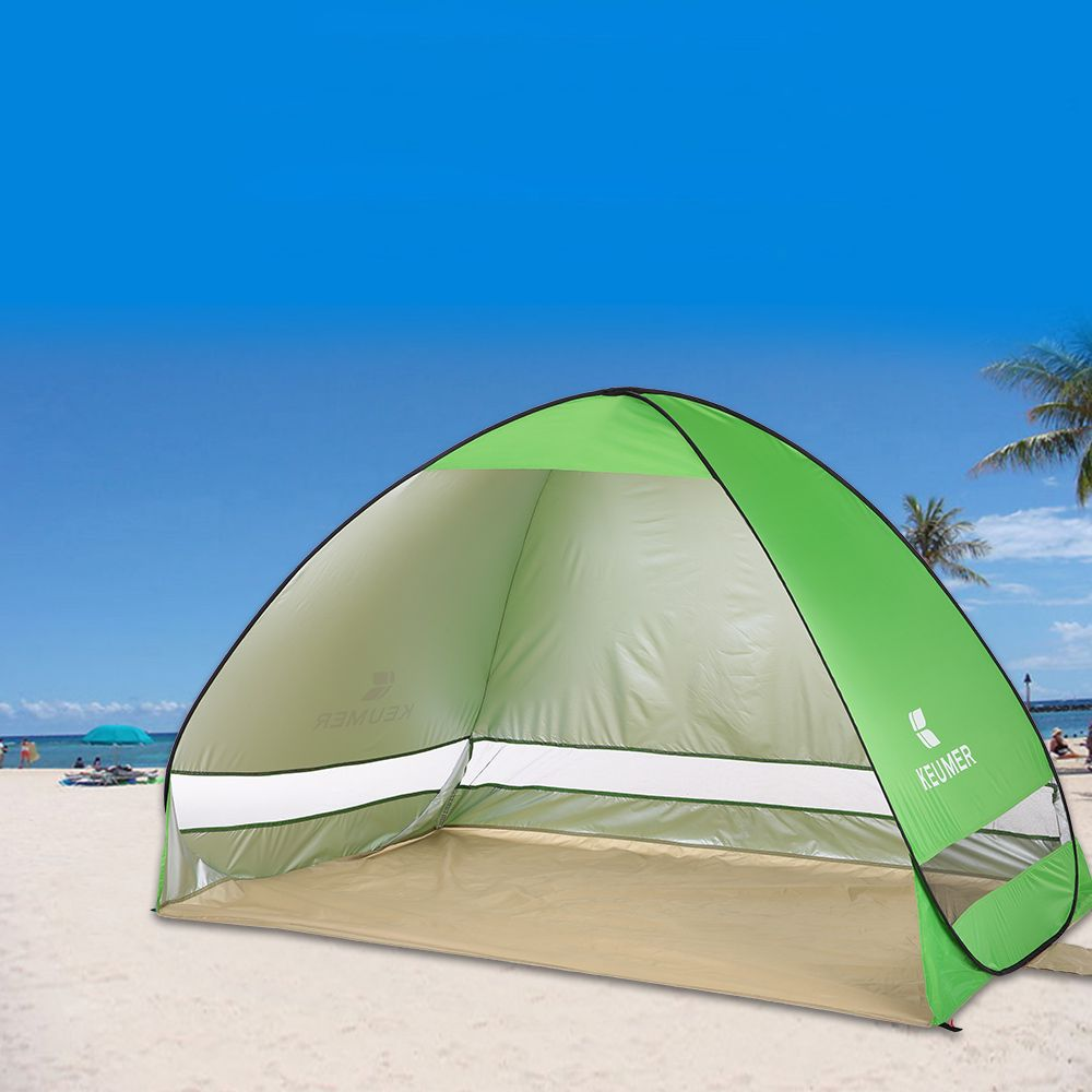 Quick Automatic Opening Beach Tent for Person Outdoor Ultraviolet-proof Waterproof Tent Summer Tent for C&ing Fishing & KEUMER 1-2 Person Outdoor Automatic Instant Pop-up Portable Tent ...