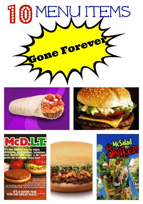 10 Fast Food Items Gone Forever | Delish | Fast food items, Copykat