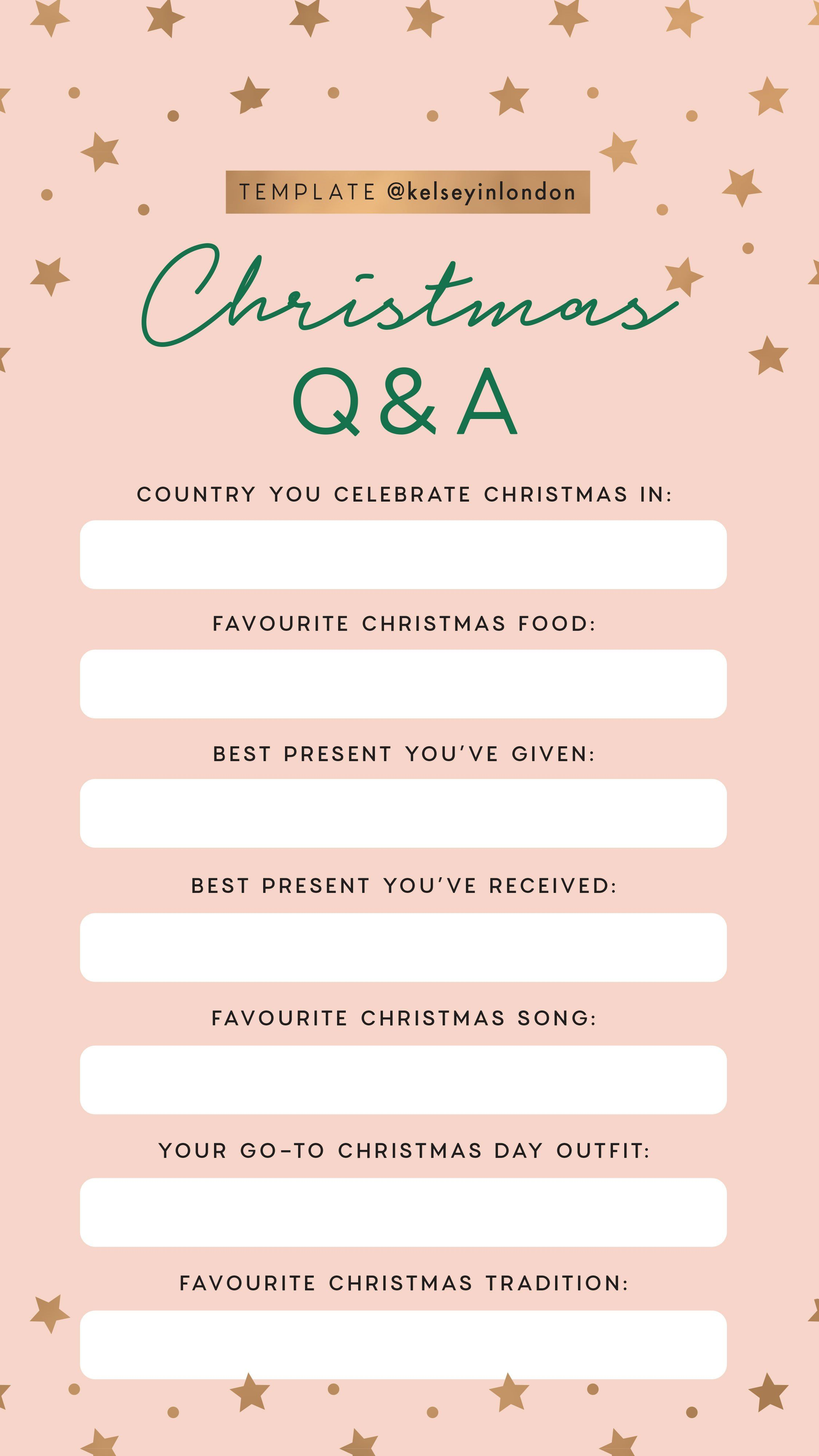 Adopt A Family Christmas Wish List Template.Instagram Story Template Kelseyinlondon Kelsey Heinrichs