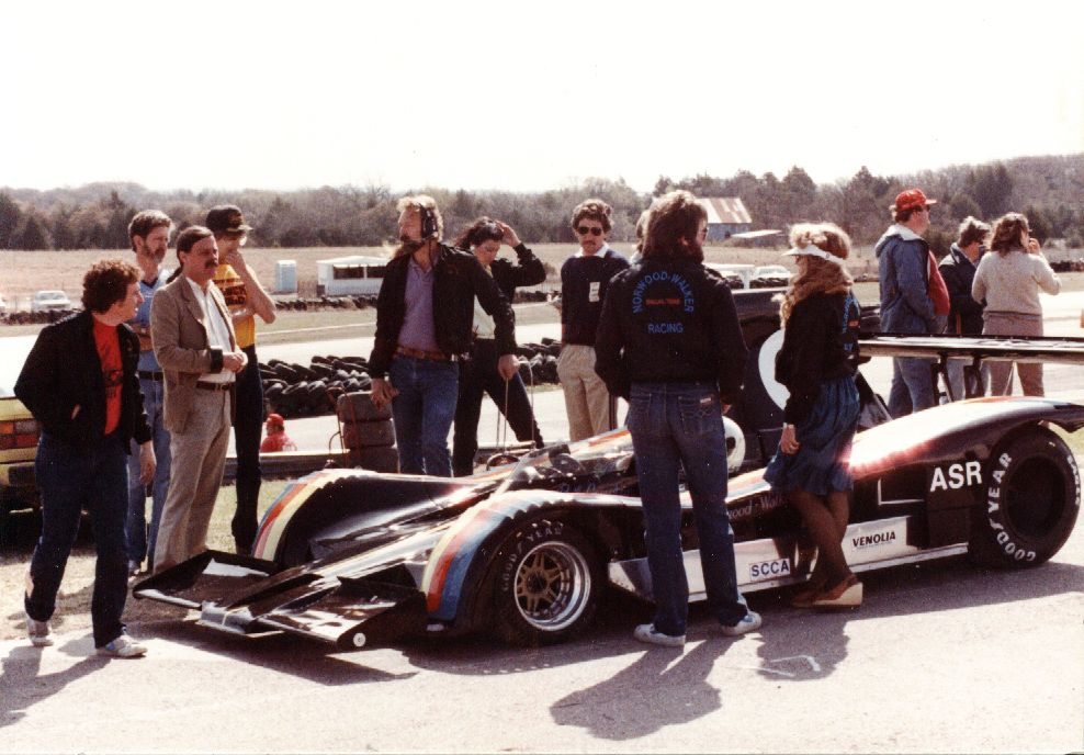 Racing the Lola in CanAm. 80's. We had a wonderful team! Phil Compton was the driver of this car. One of my favorite peeps!