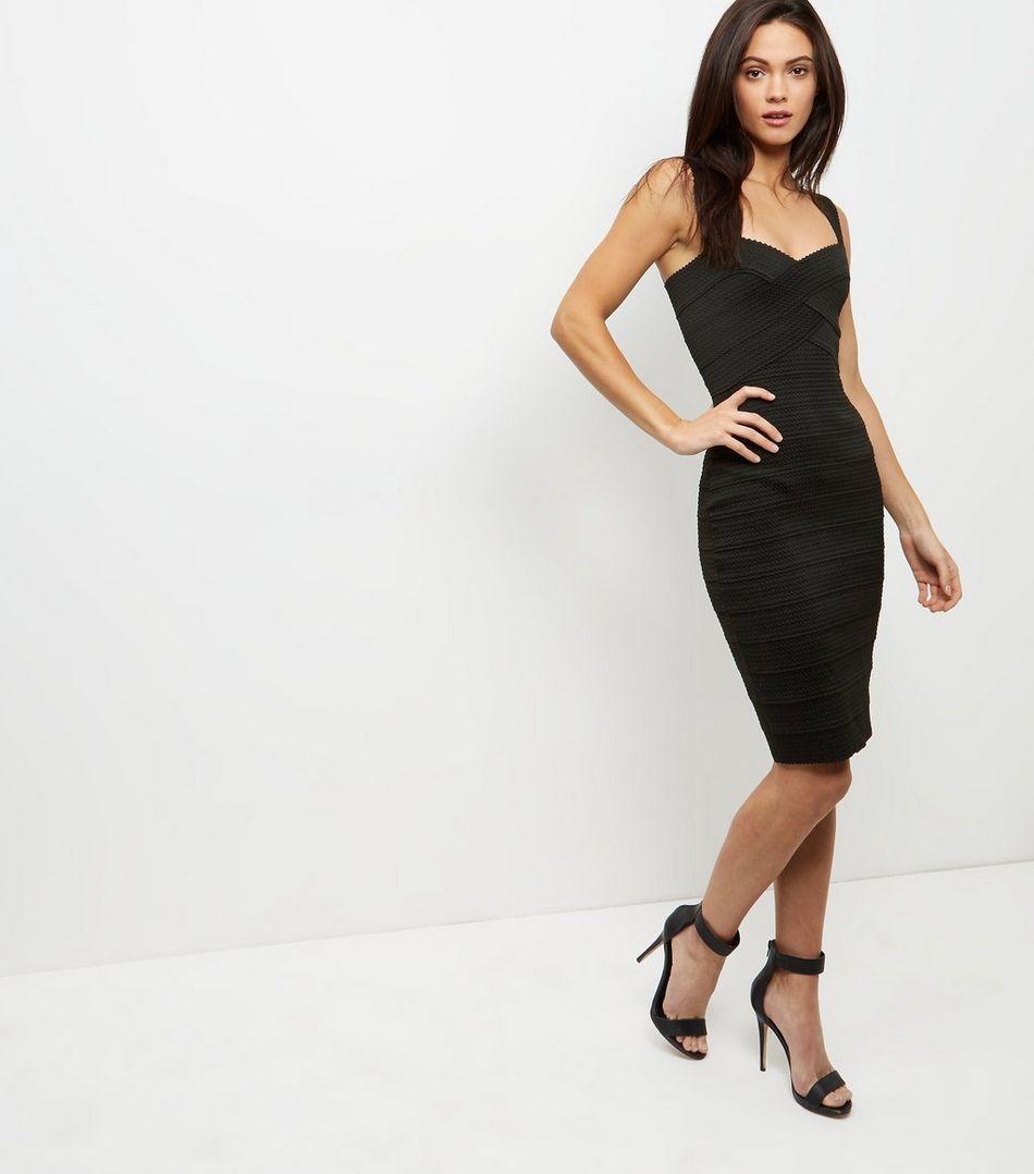 Black bandage bodycon dress new look birthday wishlist