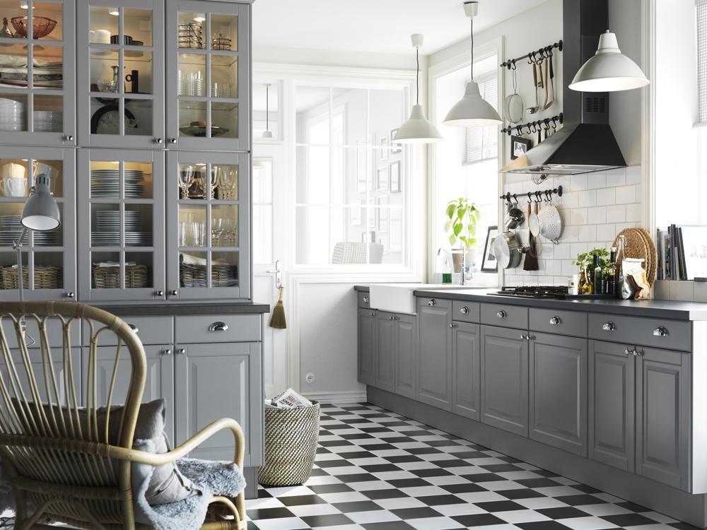 Diseños De Cocinas Inspiración Rústica Moderna Y Algún Toque - Vintage gray kitchen cabinets