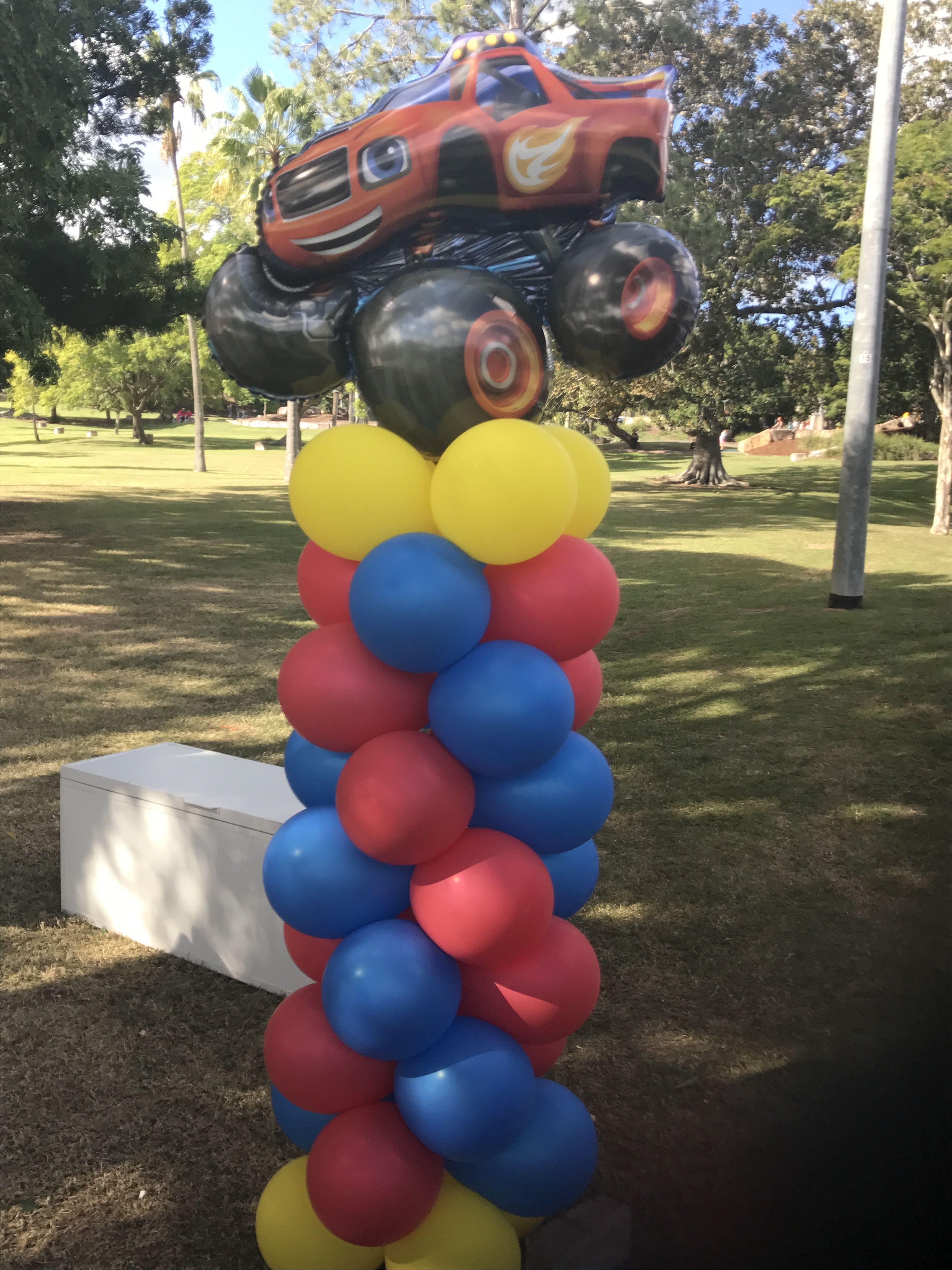 Blaze And The Monster Machine Balloon Column Car Theme