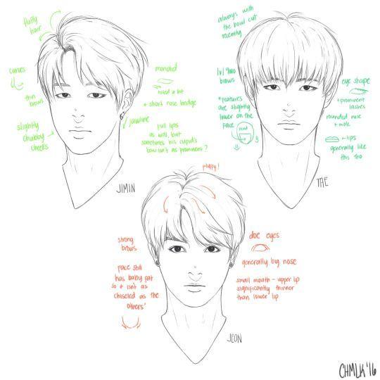Image Result For Jungkook Drawing Bts Easy Bts Pinterest Bts