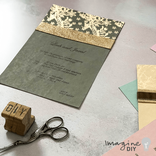 Diy Wedding Invitation In Grey And Gold How To Make Your Own Easy Invitations