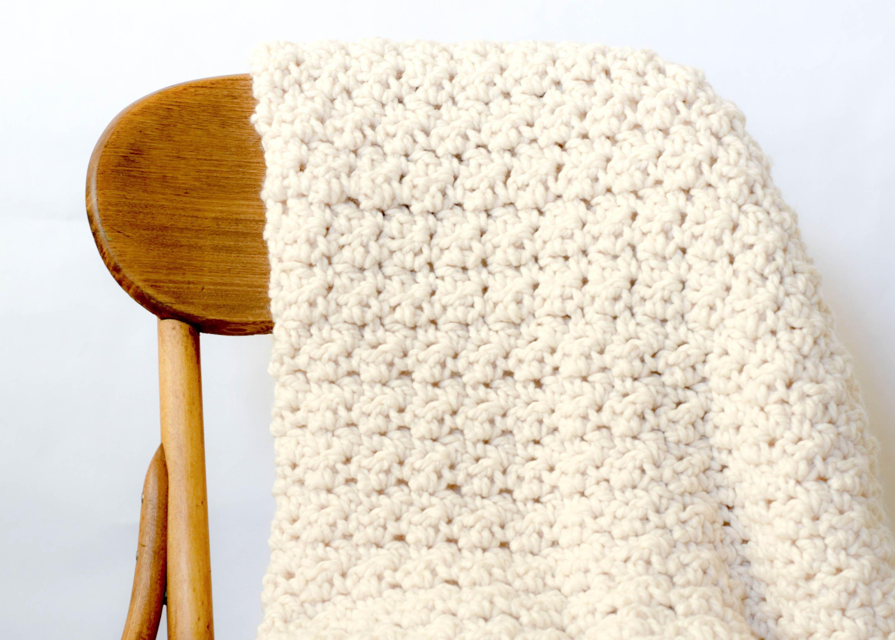 Chunky Icelandic Crochet Blanket Pattern | Manta, Tejidos de ...