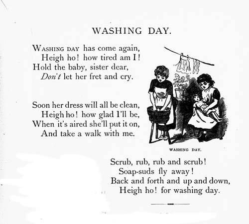 Laundry Poem So Cute Kids Poems Vintage Laundry Learn