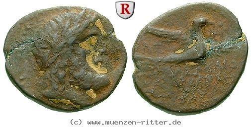 RITTER Koile Syria, Chalkis ad Libanon, Tetrarch Ptolemaios, Zeus, Adler #coins