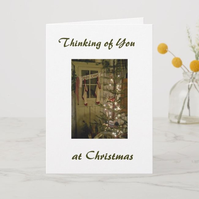 MISS YOU FRIENDS AT CHRISTMAS TIME HOLIDAY CARD