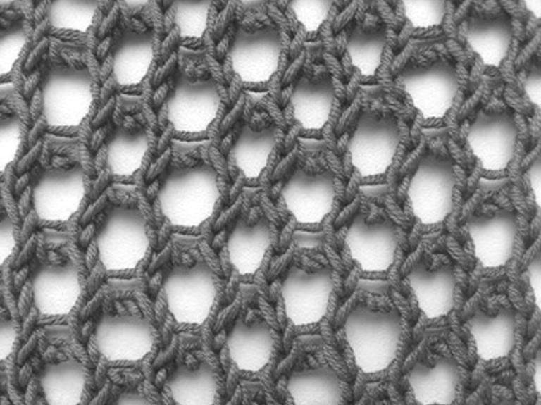 Honeycomb Mesh Knit Stitch Knithit Free Knitting Patterns