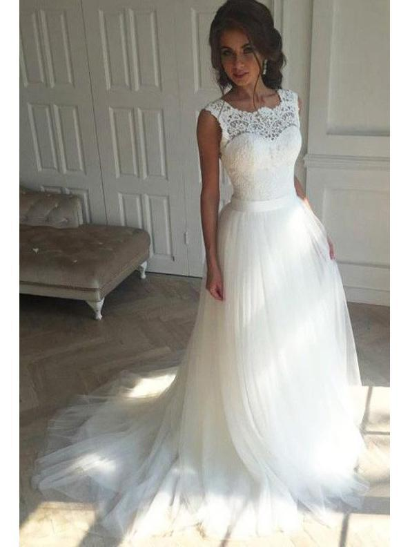 Illusion Lace A Line Cheap Wedding Dresses Online Cheap Lace Bridal Dresses Wd440 Online Wedding Dress Bridal Dresses Lace Cheap Wedding Dress