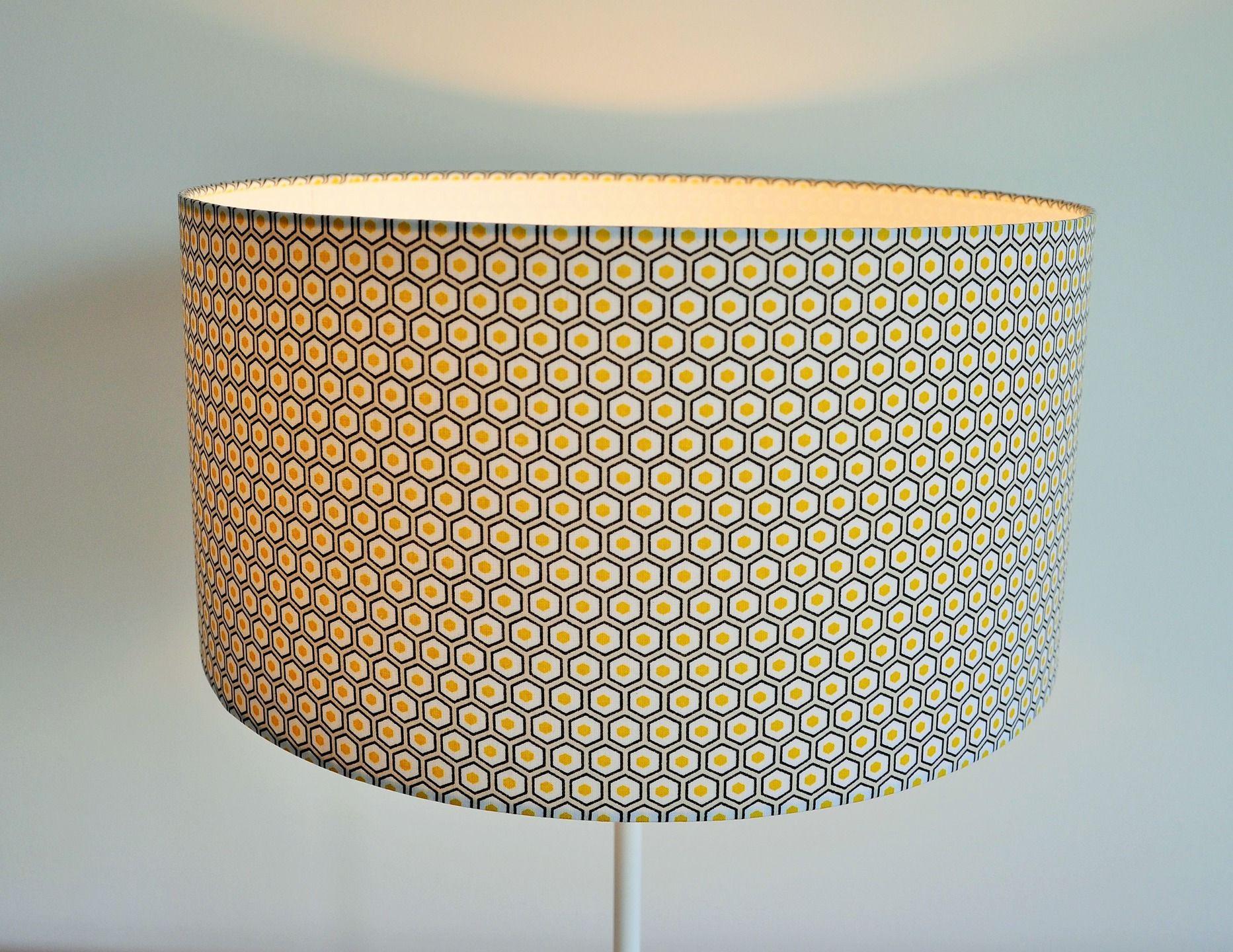 abat jour suspension diam tre 30 cm cylindrique jaune. Black Bedroom Furniture Sets. Home Design Ideas