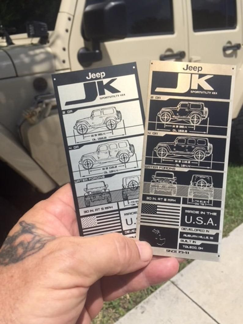 Data Plate Jk And Jku In 2020 Custom Jeep Wrangler New Jeep