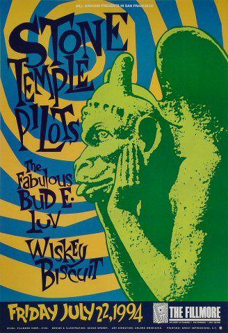 1993 Vintage Concert Poster Butthole Surfers Stone Temple Pilots