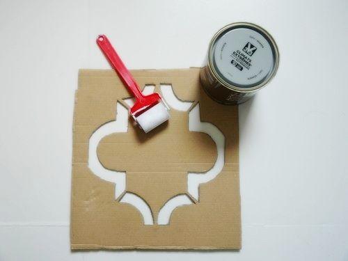 Peindre un carrelage style vieux carreaux ciment Idées pour la - Comment Peindre Du Carrelage De Cuisine