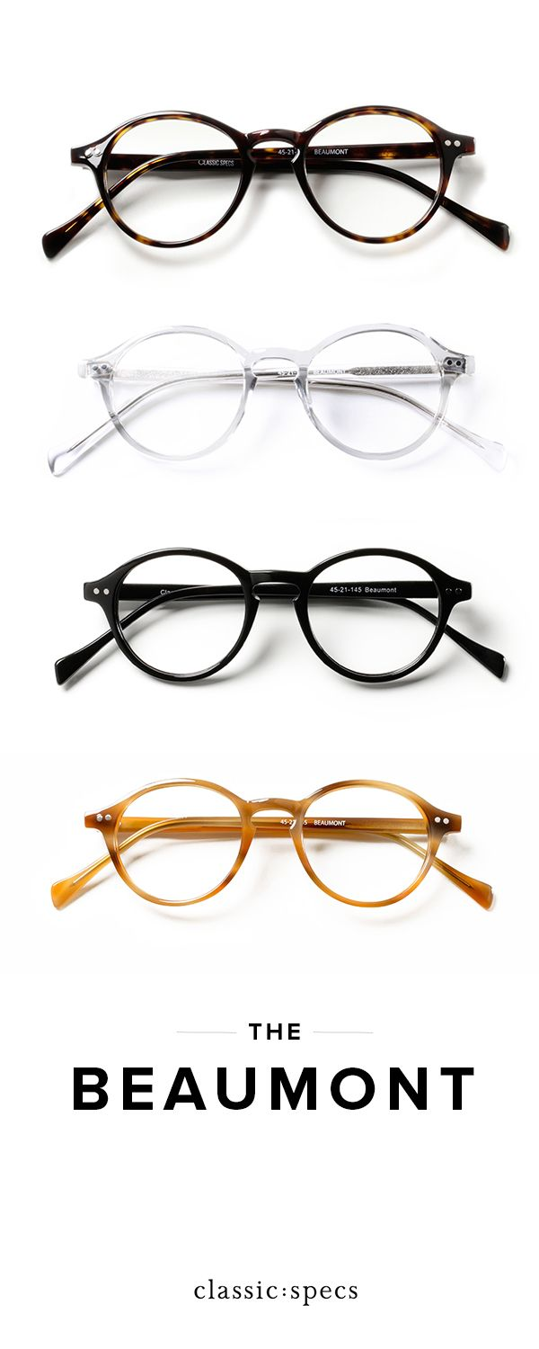 6537c9236fd Meet the Beaumont  our signature round vintage-inspired frames.