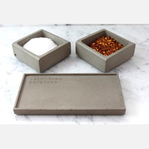 concrete spice caddy