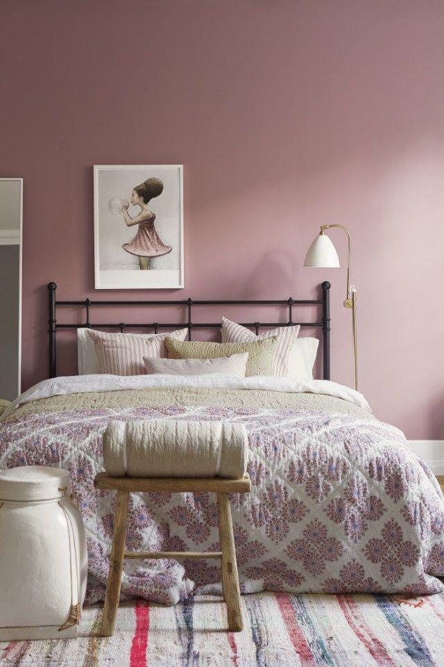 Wohnideen Schlafzimmer Rosa dusty pink dusty wandfarbe neue wohnung und wände