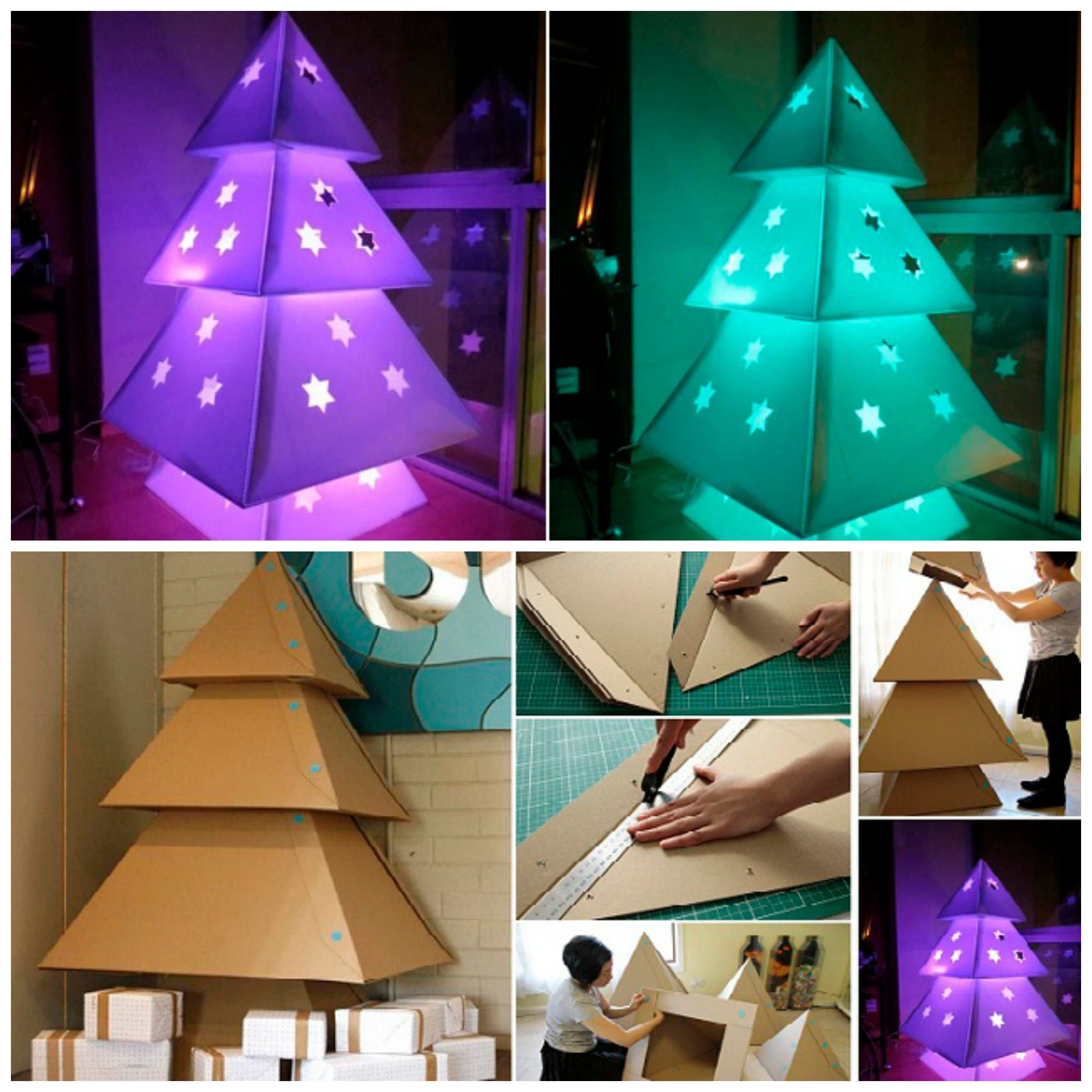 Diy Makedo Cardboard Christmas Tree Cardboard Christmas Tree Christmas Decor Diy Christmas Diy