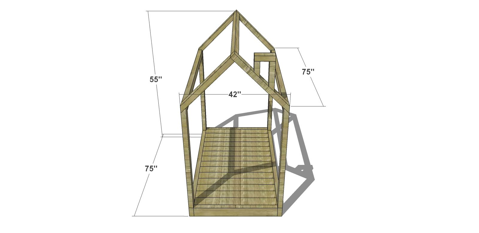 Diy Furniture Plans Twin House Bed With Platform