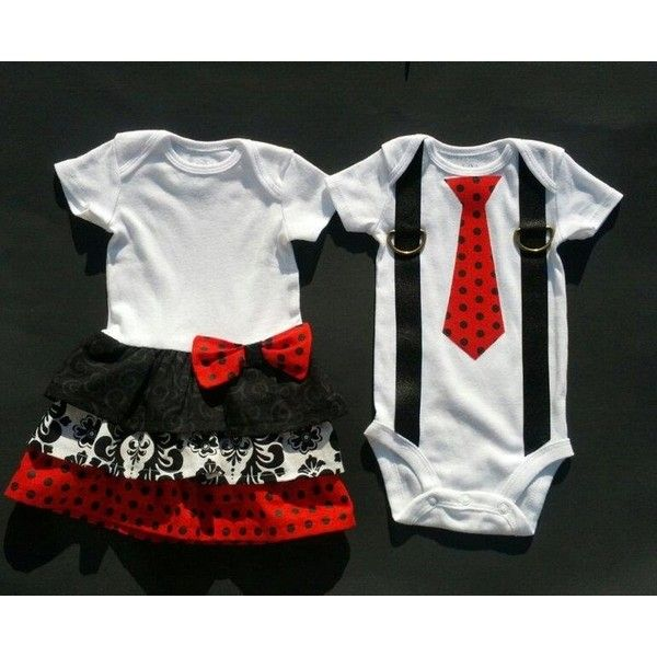 bf44f80c4 Boy Girl Twin Sibling Matching Outfits Scarlett Scott Set ❤ liked on  Polyvore featuring baby, baby stuff, twins and baby clothes