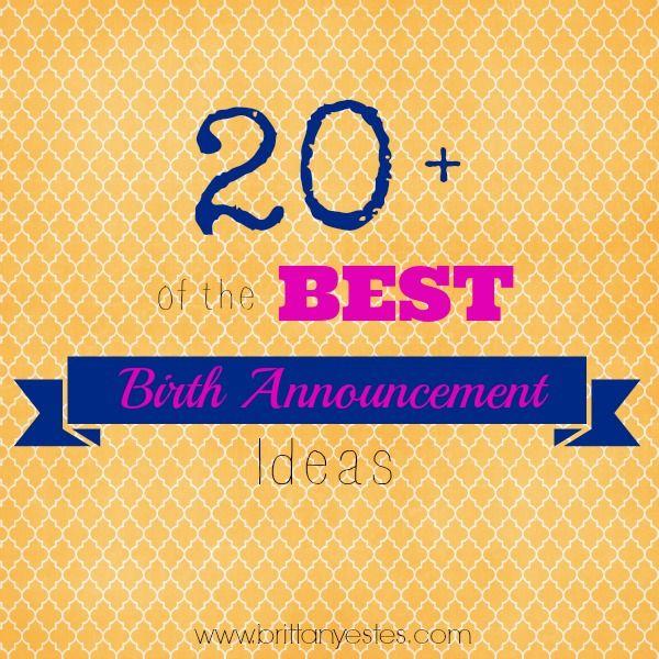 17 Best images about Birth Announcements – Pinterest Baby Announcement Ideas