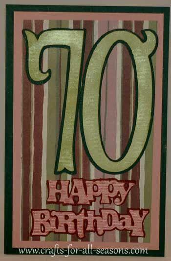 Cricut 70th Birthday Card 70th Birthday Card Birthday Cards 70th Birthday