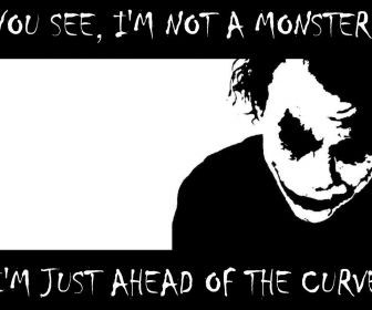 Black And White Quotes The Joker Typography Batman Hd Wallpaper