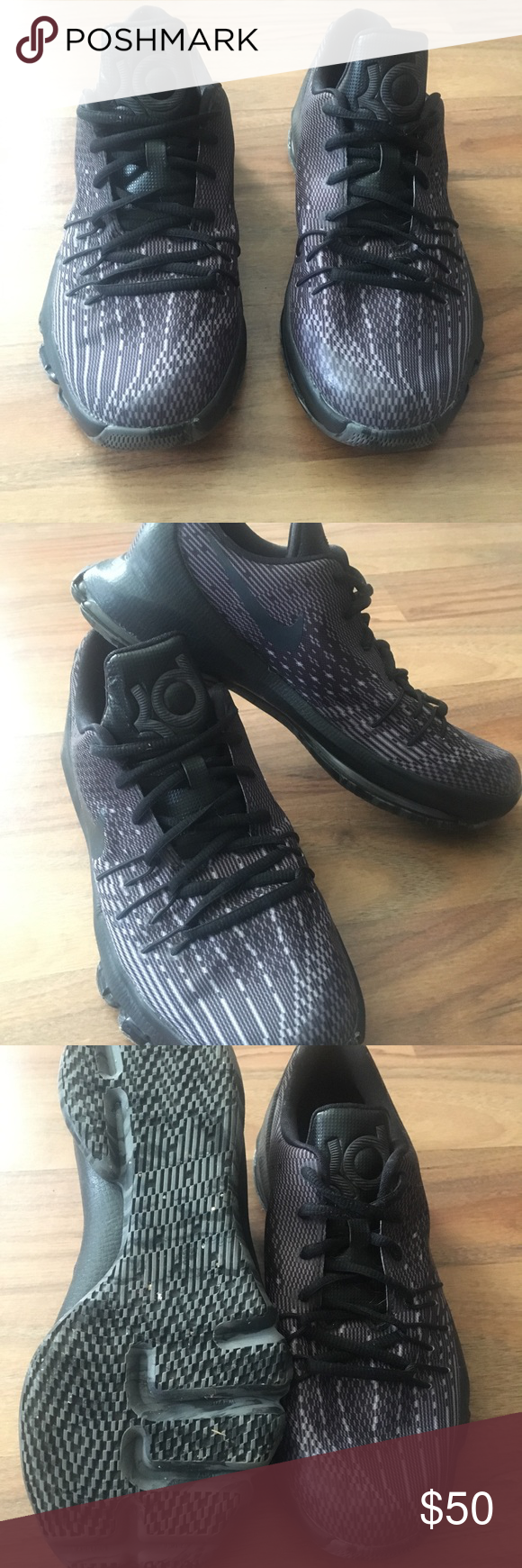"competitive price 538b5 2520e Nike KD ""Blackout"" Kevin Durant Shoes Very clean pair of Kevin Durant Nike  Shoes. Only worn once. Nike Shoes Athletic Shoes"