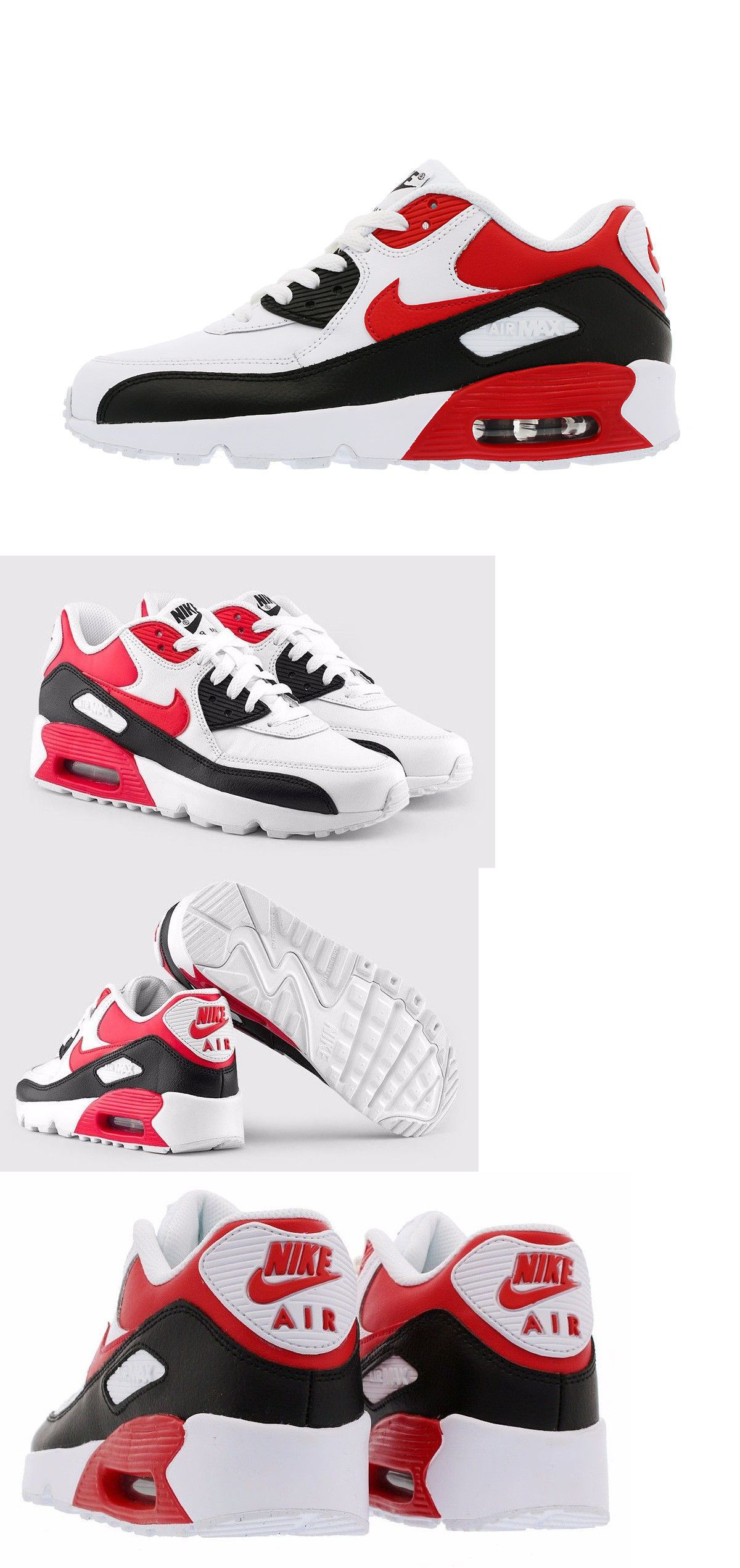 Girls Shoes 57974: Nike Air Max 90 Leather Shoes Kids Boys Girls Gs Size 7Y