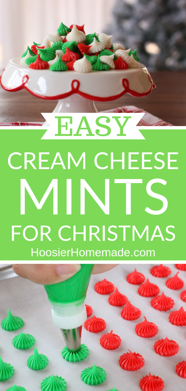 Cream Cheese Mints #homemadechristmasgifts